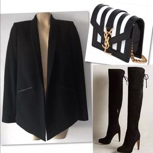 10 Crosby Derek Lam Jackets & Coats - 🔥 10 CROSBY DEREK LAM WOOL BLACK PREPPY BLAZER 6